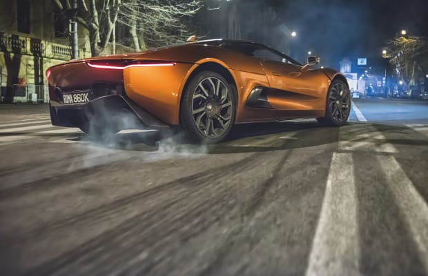 Jaguar and the Spectre team offer a new look at the Jaguar C-X75
