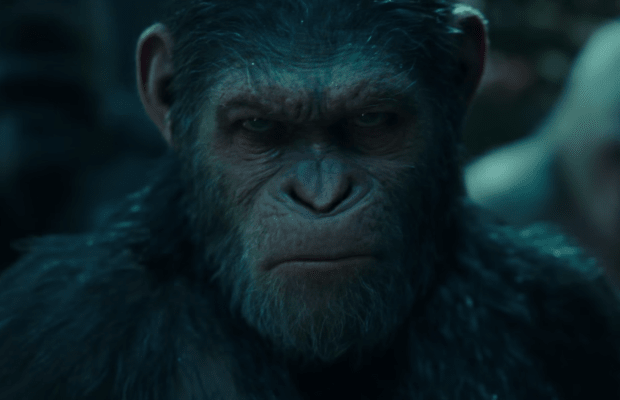 Caesar goes to war in the third movie of the Planet of the Apes franchise