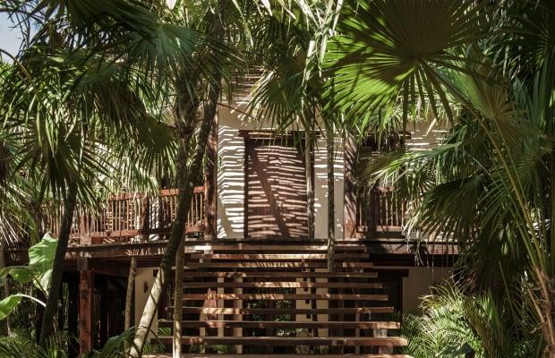 The Tulum Treehouse is a minimalist getaway along Mexico's Carribean coastline