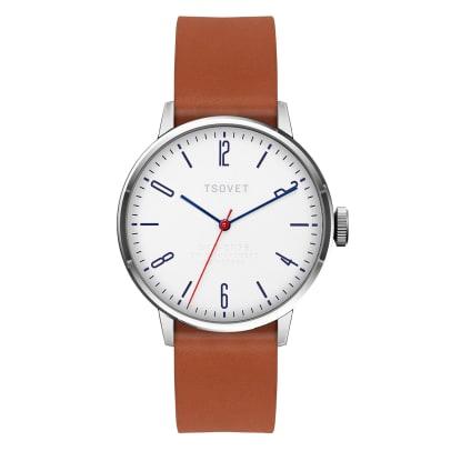 TSOVET Fred Segal Watch tan leather strap option .jpg