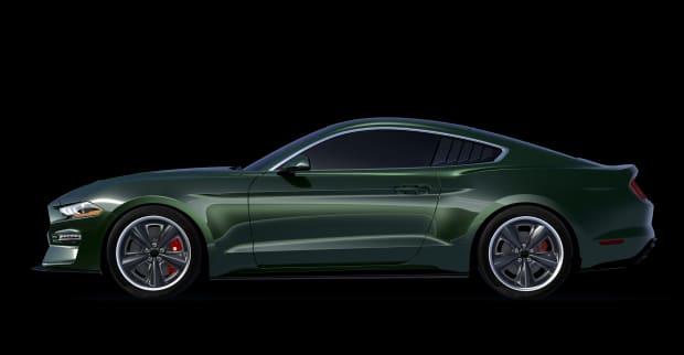 Steve McQueen Edition Steeda Bullitt Mustang Side Black
