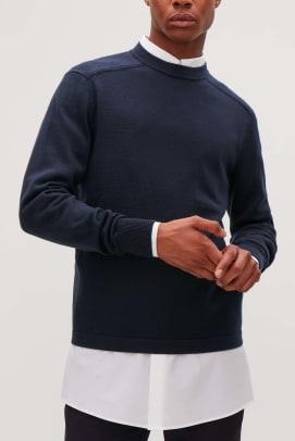 COSxPittiUomo_Soma_Cotton_Poplin_Shirt_Navy_Jumper