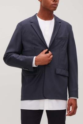 COSxPittiUomo_Soma_Navy_Suit_Jacket_Contrast_Stitch_Shirt