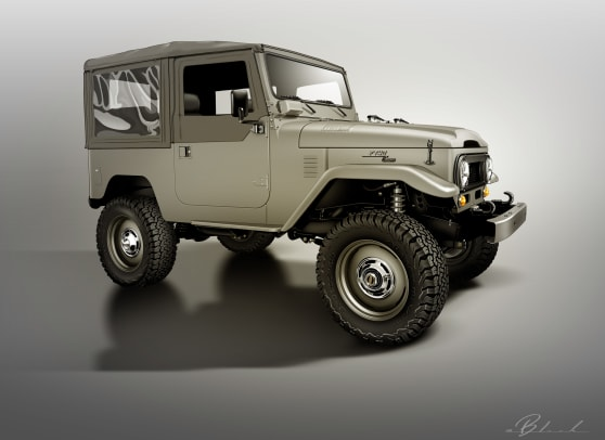 FJ40 ICON Old School Edition Rendering