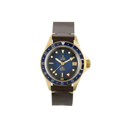 Superman GMT Bronze Blue face leather