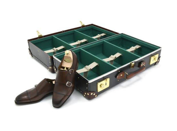Globe Trotter and Edward Green create the perfect suitcase for the fine footwear aficionado