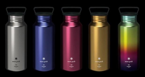 Snow Peak unveils a new range of titanium bottles