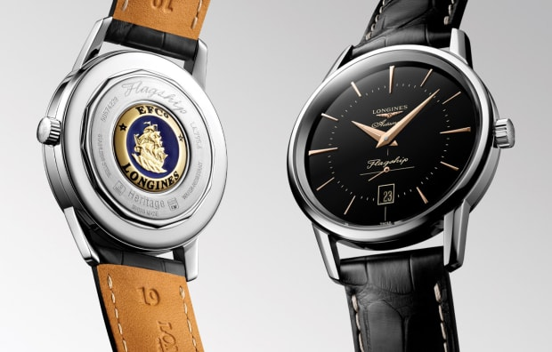 Longines updates the Flagship Heritage with a new black colorway inspired by a rare model from 1957