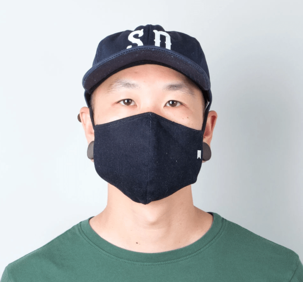 Lone Flags new mask combines Coast Denim fabric and an antimicrobial lining