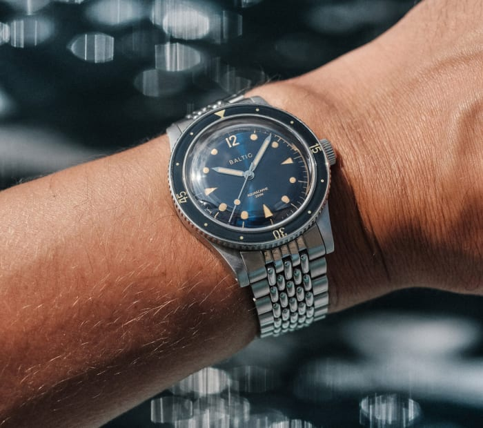 Baltic's Aquascaphe pays homage to classic dive watch design