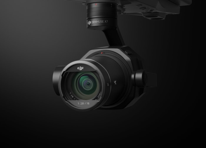 DJI's Zenmuse X7 offers 6K and interchangeable prime lenses