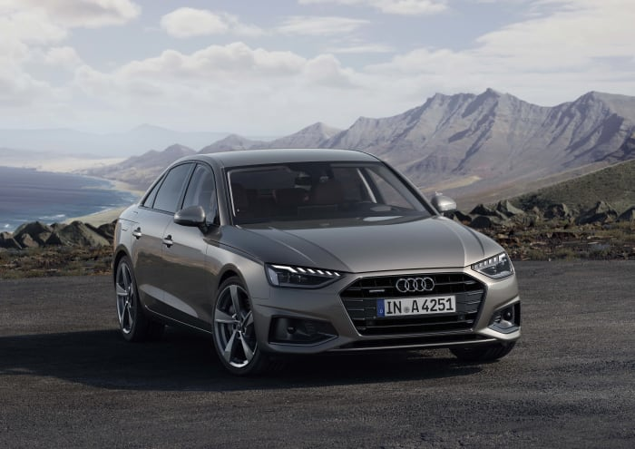 Audi shows off the 2020 A4's aggressive new face