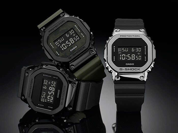Casio updates the G-Shock 5600 line with metal bezels