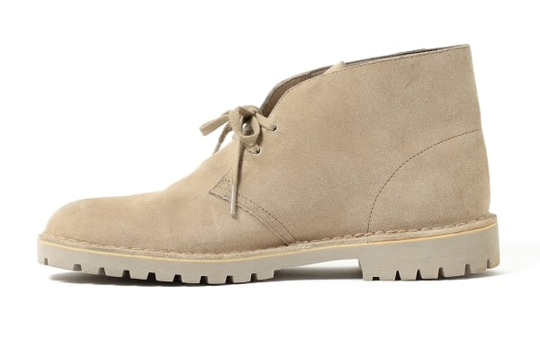 Beams upgrades the Clarks Desert Boot with rugged soles and Gore-Tex