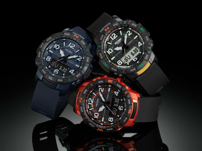 Casio brings a Quad Sensor and Smartphone Link functionality to their new Pro Trek