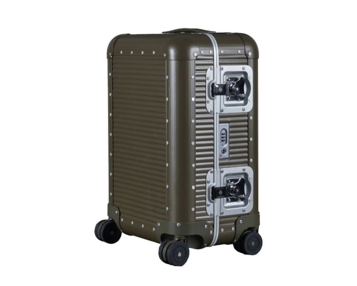 Nick Wooster and FPM Milano release a limited edition colorway of their aluminum Bank suitcase