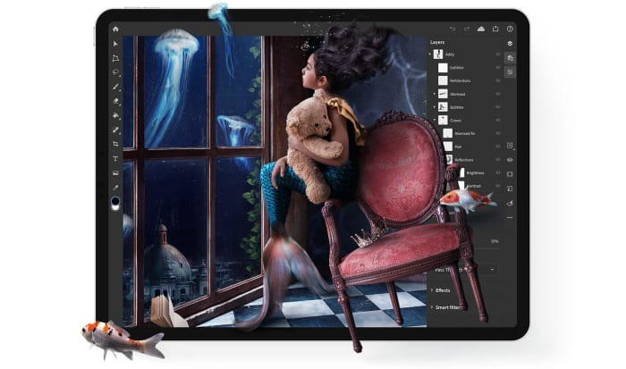 Adobe releases Photoshop on iPad