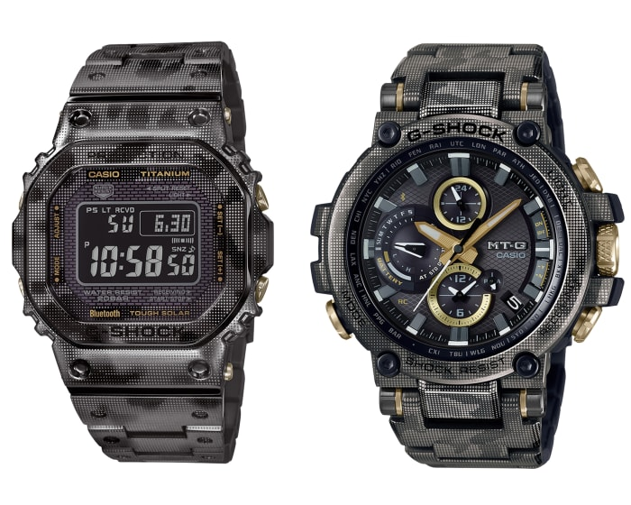 Casio unveils a new laser camo print for its metal watches