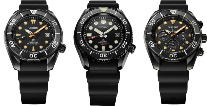 Seiko Prospex reveals its Black Series Limited Editions