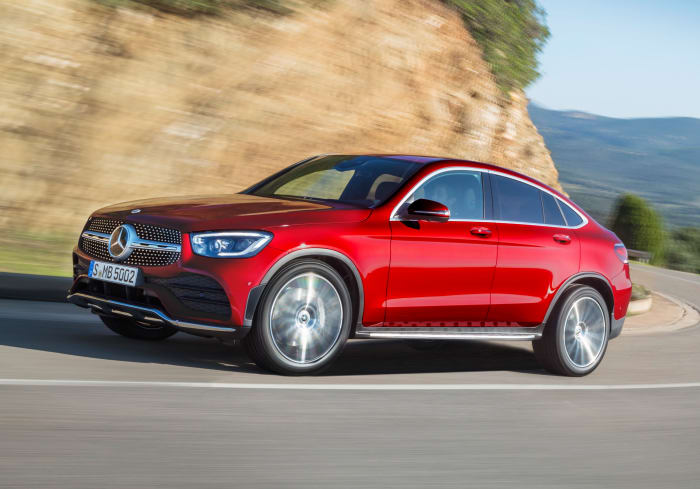 Mercedes debuts its redesigned GLC Coupe