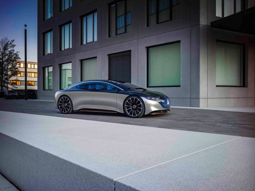 Mercedes-Benz previews the future of its luxury sedans with the all-electric Vision EQS concept