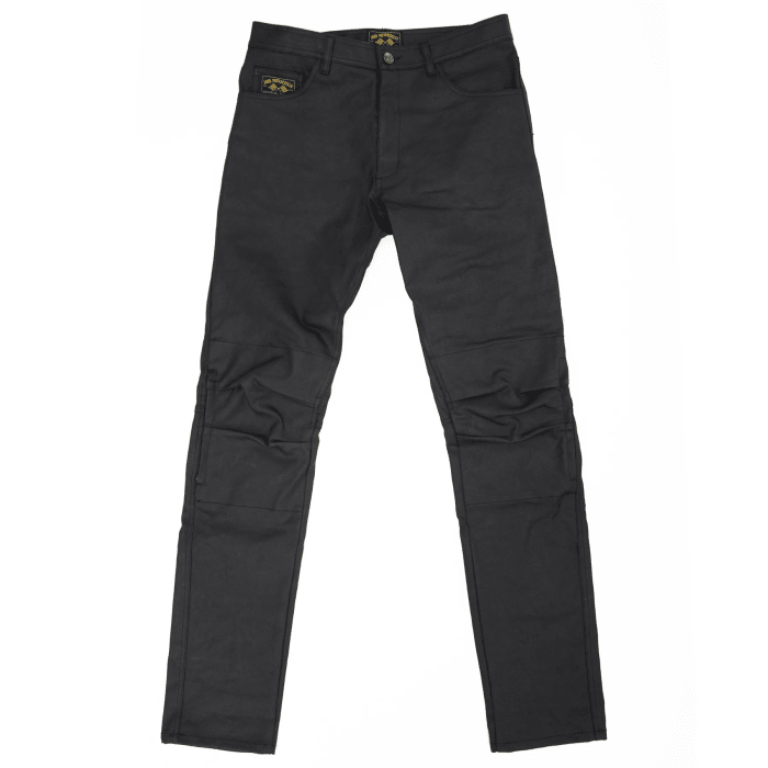 Jane Motorcycles updates its Norman riding pants with Armalith waxed denim