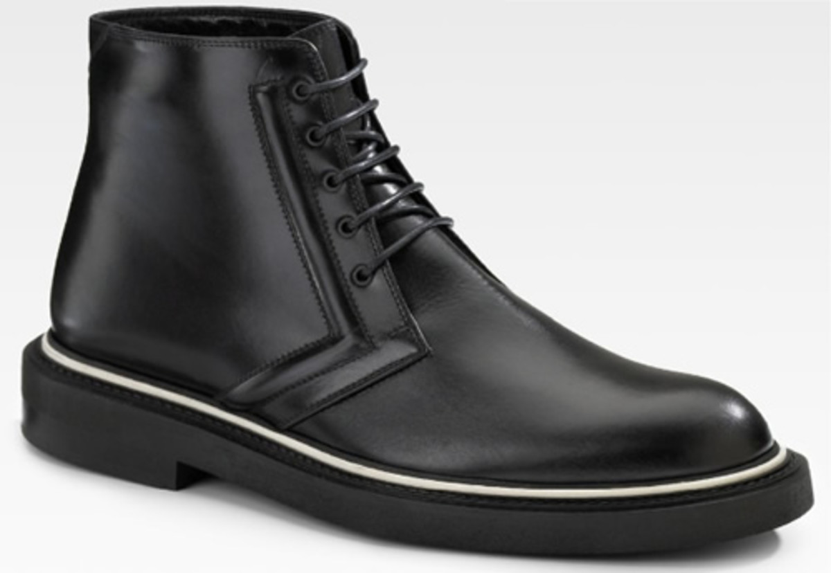 dior homme leather work boot acquire. Black Bedroom Furniture Sets. Home Design Ideas