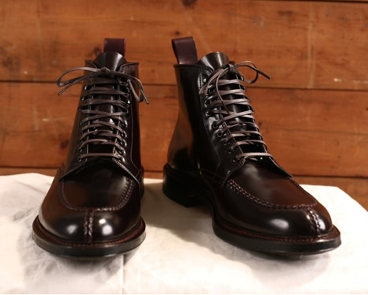 9eb324a99f The very prolific Alden of New England team up once again with Context  Clothing on a exclusive version of the Tanker Boot. The boot was created on  the ...