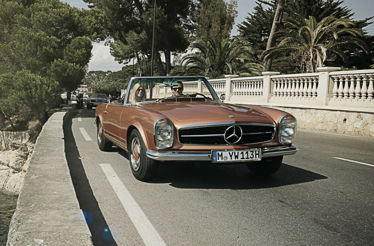 """Mercedes' """"Classic Car Travel"""" lets you tour the south of France in a classic SL roadster"""