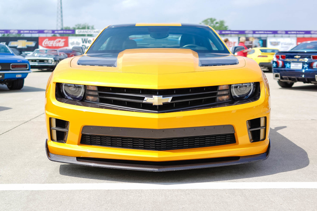 The most famous fifth-generation Camaro of them all, Bumblebee from Transformers.