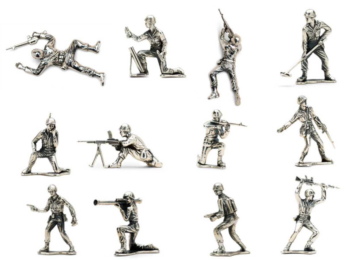 Photo: Silver Army Men