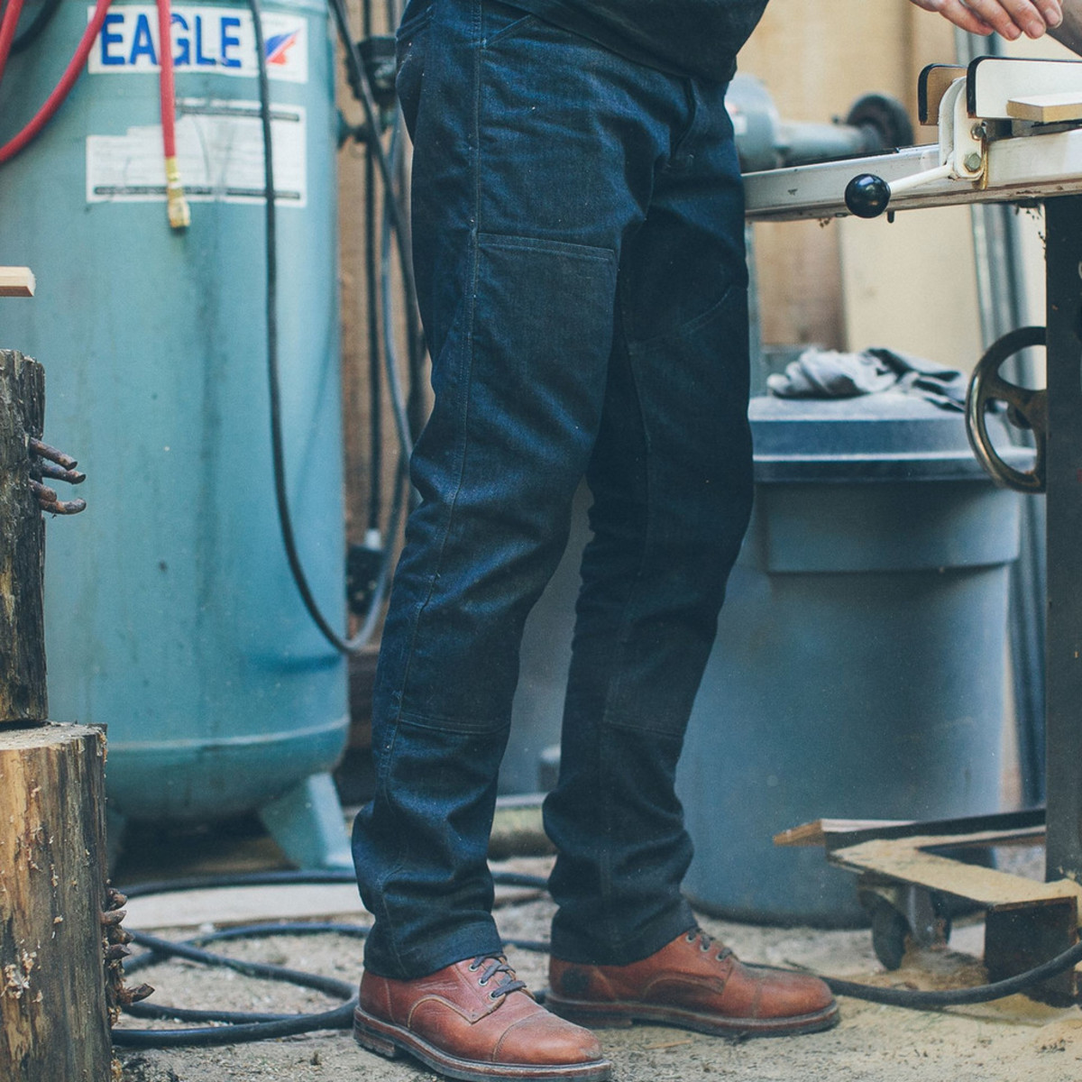 Best Motorcycle Jacket >> Taylor Stitch's Double Knee Moto Jean - Acquire
