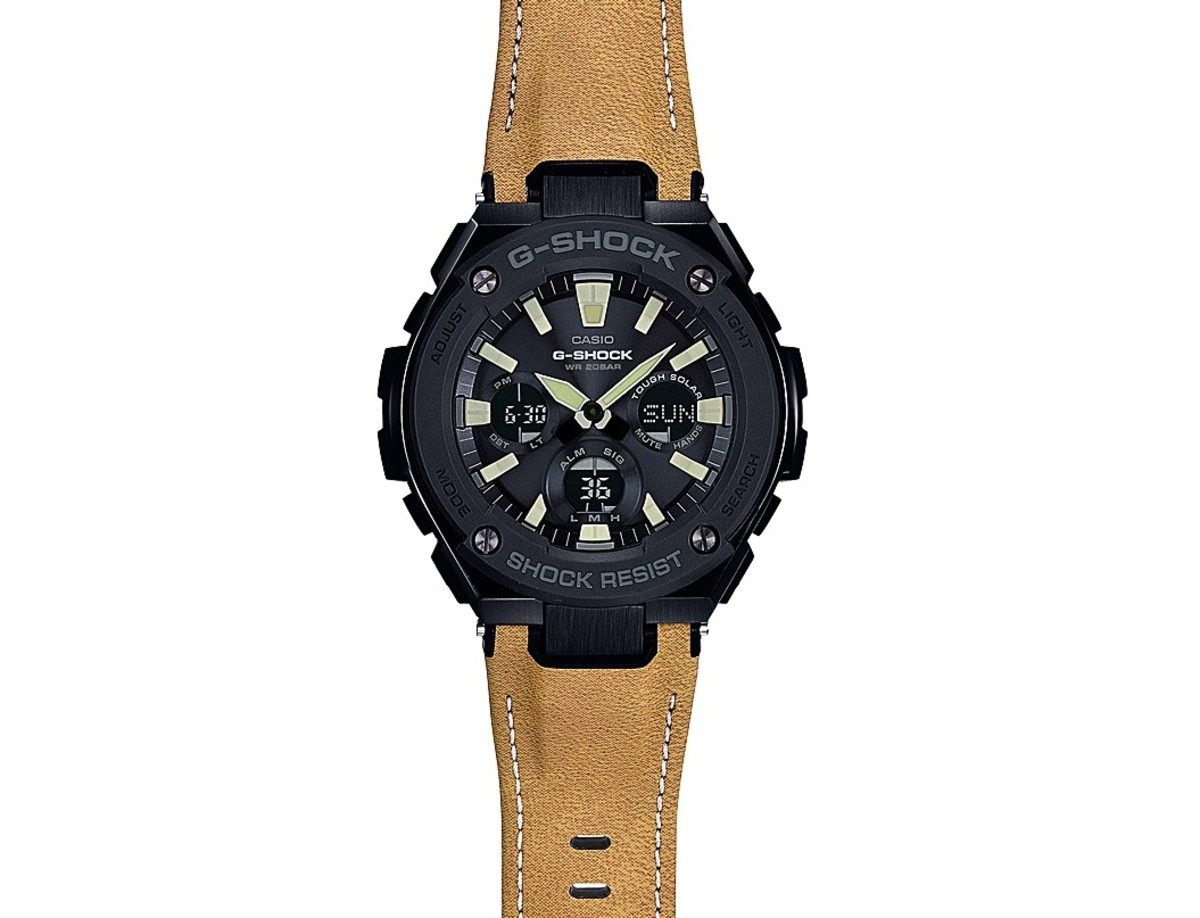 G-Shock Tough Leather Black Tan