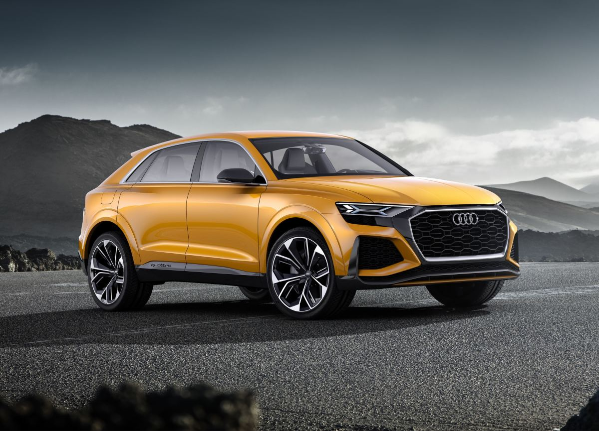 Audi Q8 Sport Concept Orange Profile