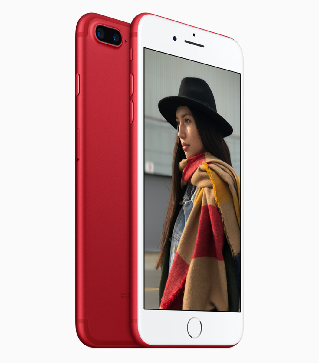 Apple Product Red iPhone 7 Back Front