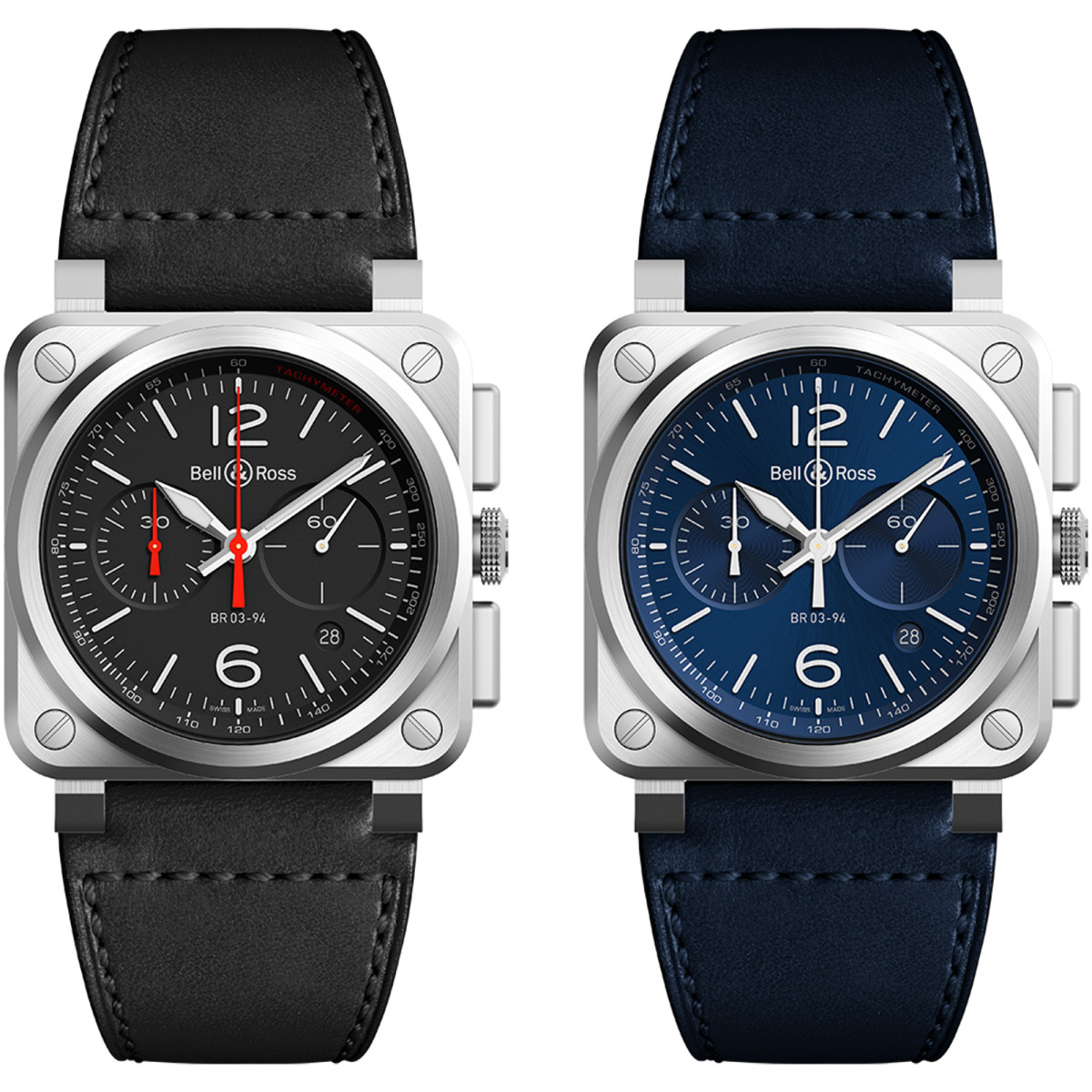 Bell & Ross Blue and Black Steel