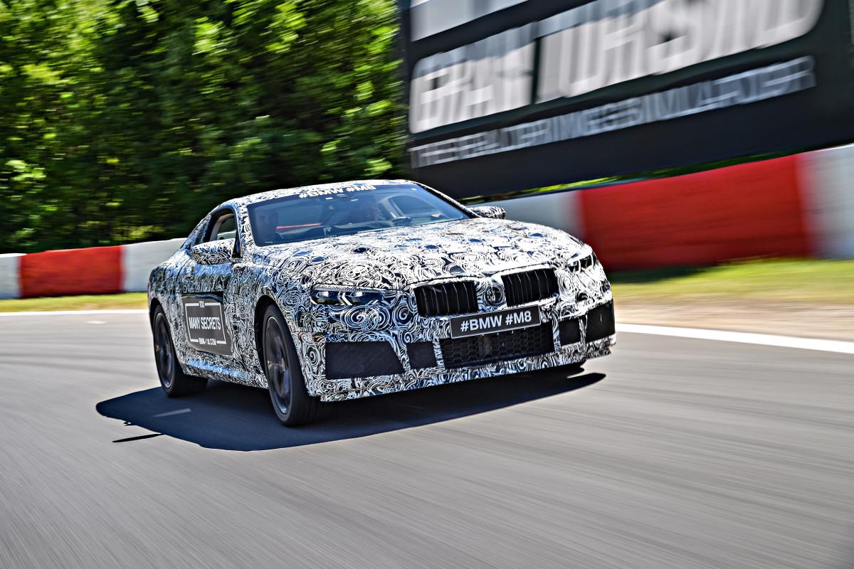 BMW M8 Camo front quarter