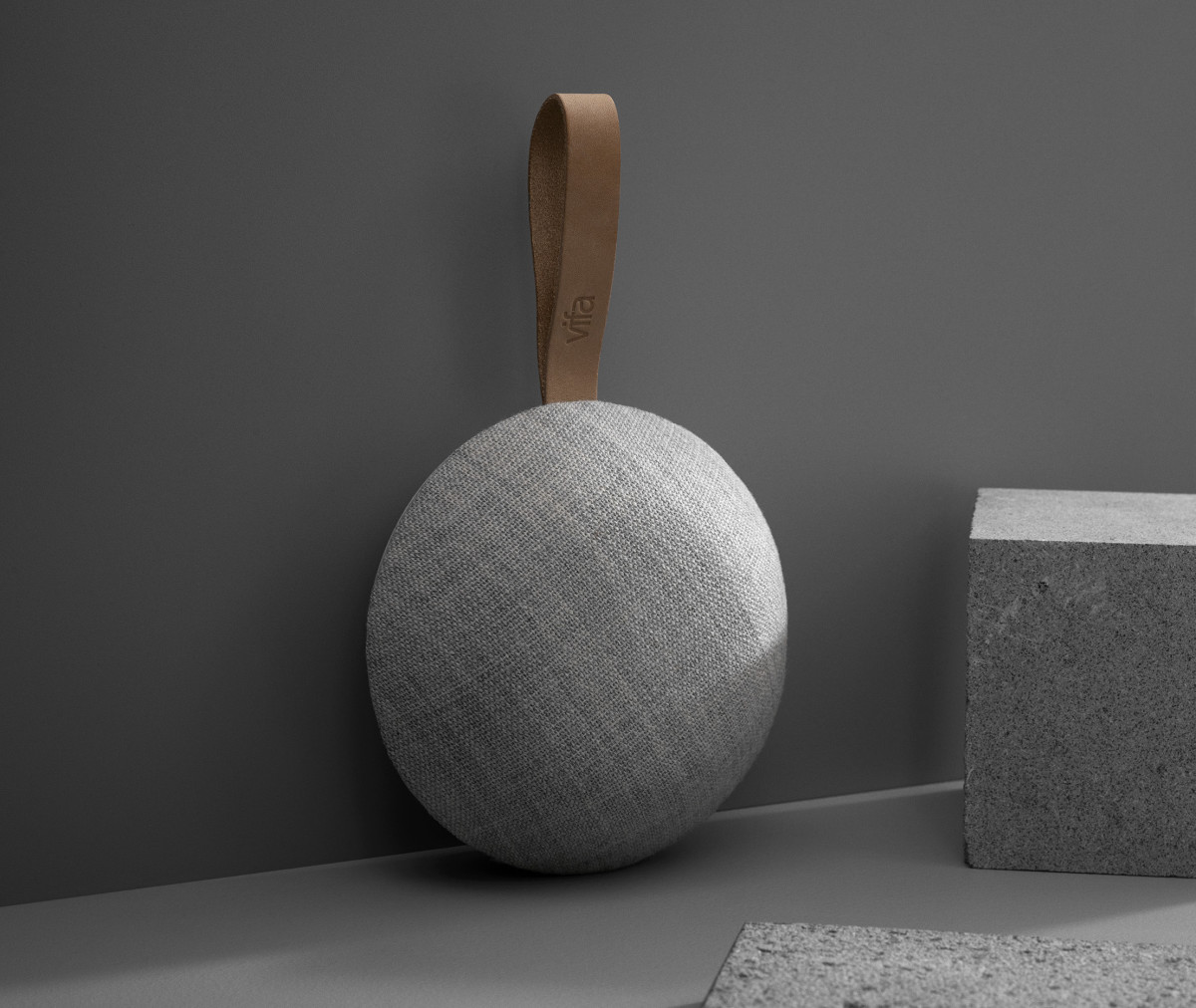 Vifa puts big sound into a compact, Kvadrat-wrapped speaker - Acquire