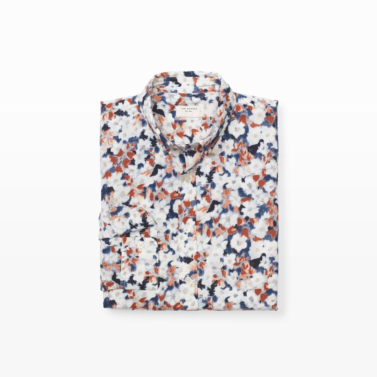 Club Monaco Floral Shirt