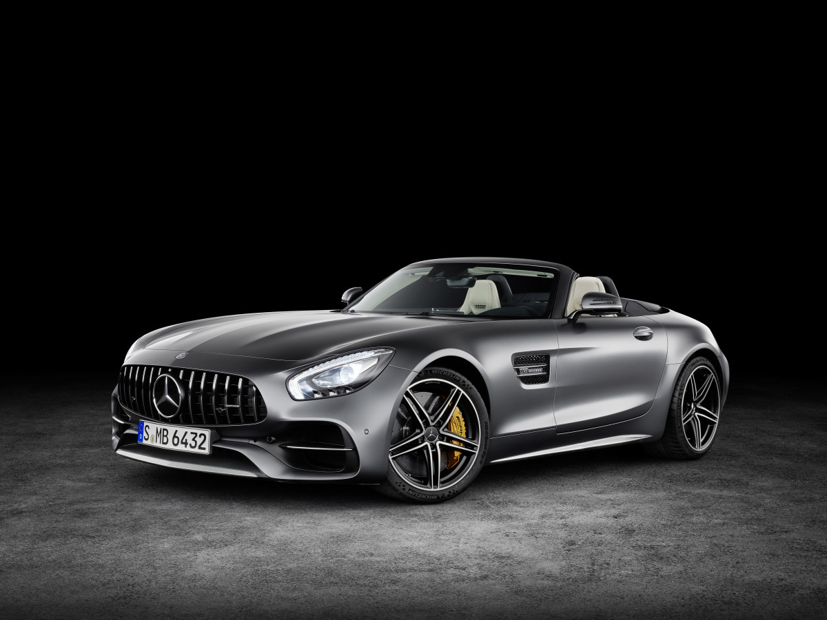 Mercedes AMG GT Roadster Front Quarter Open