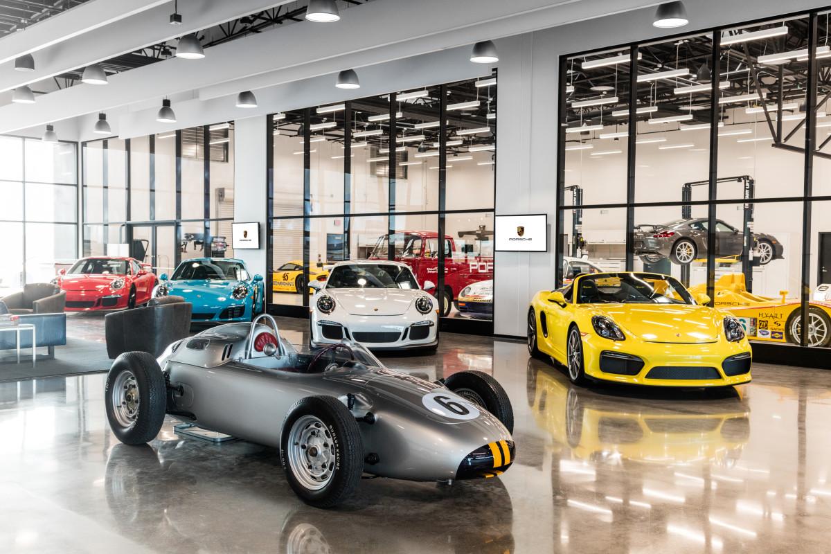 Porsche Experience Center interior