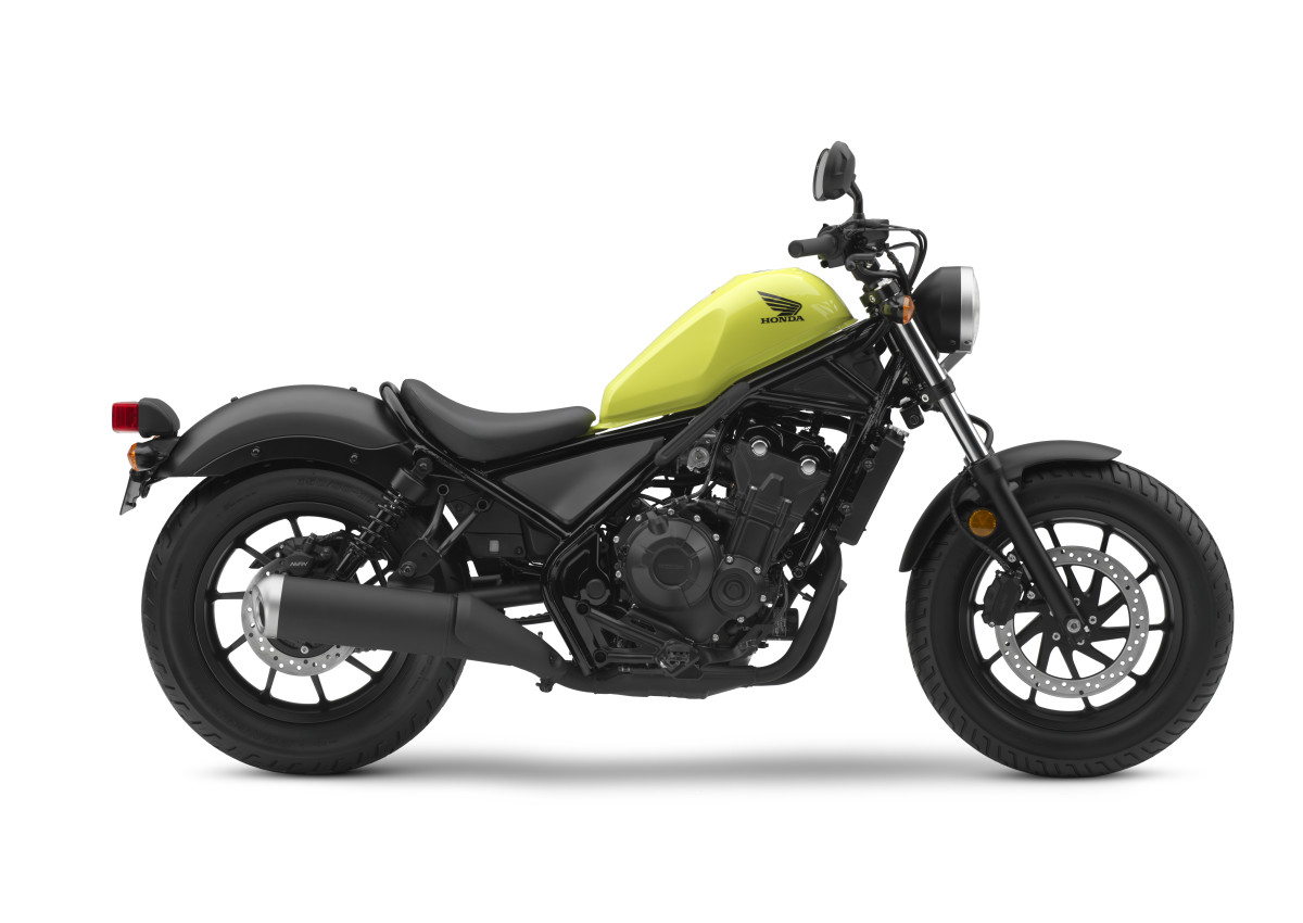 Honda Rebel 500 Yellow