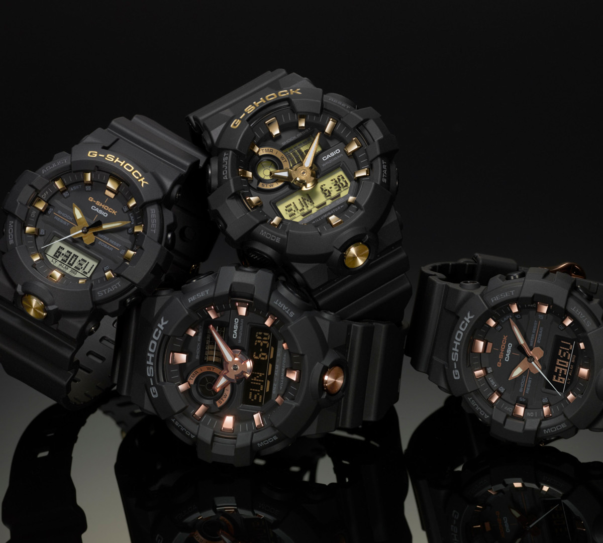 Casio G-Shock Gold Accent Collection