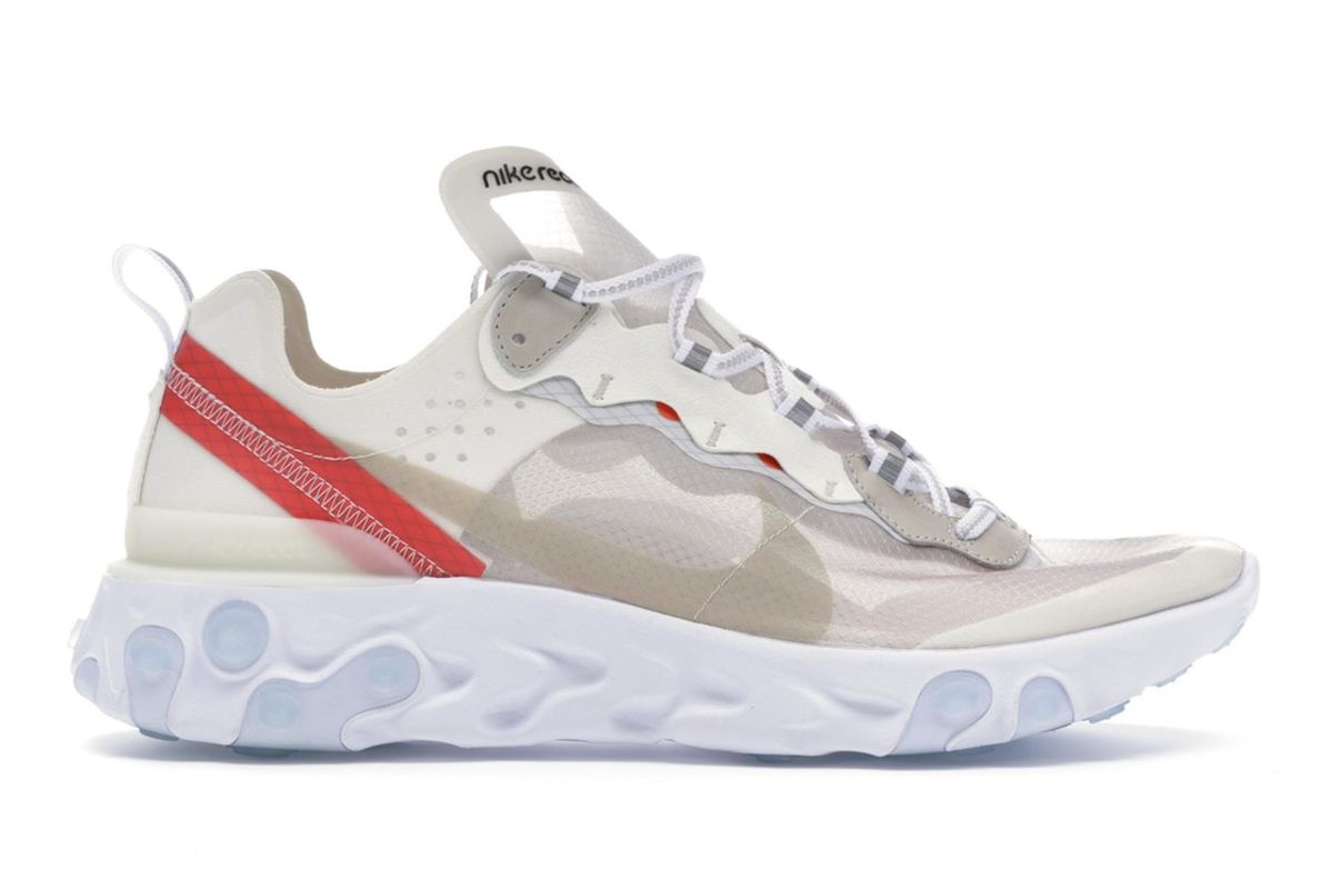 Nike React Element 87 in Bone