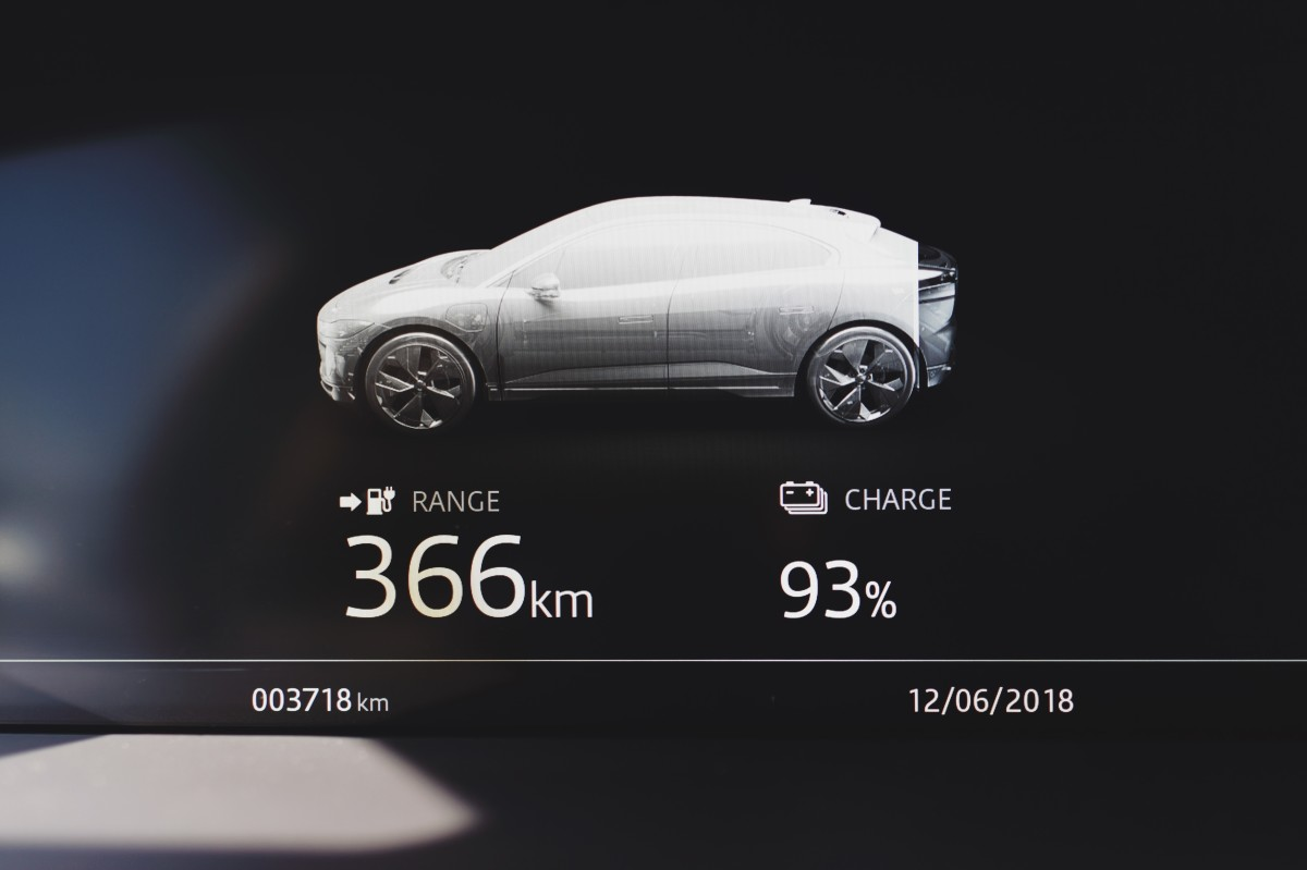 The I-Pace has a range of 240 miles on a single charge.