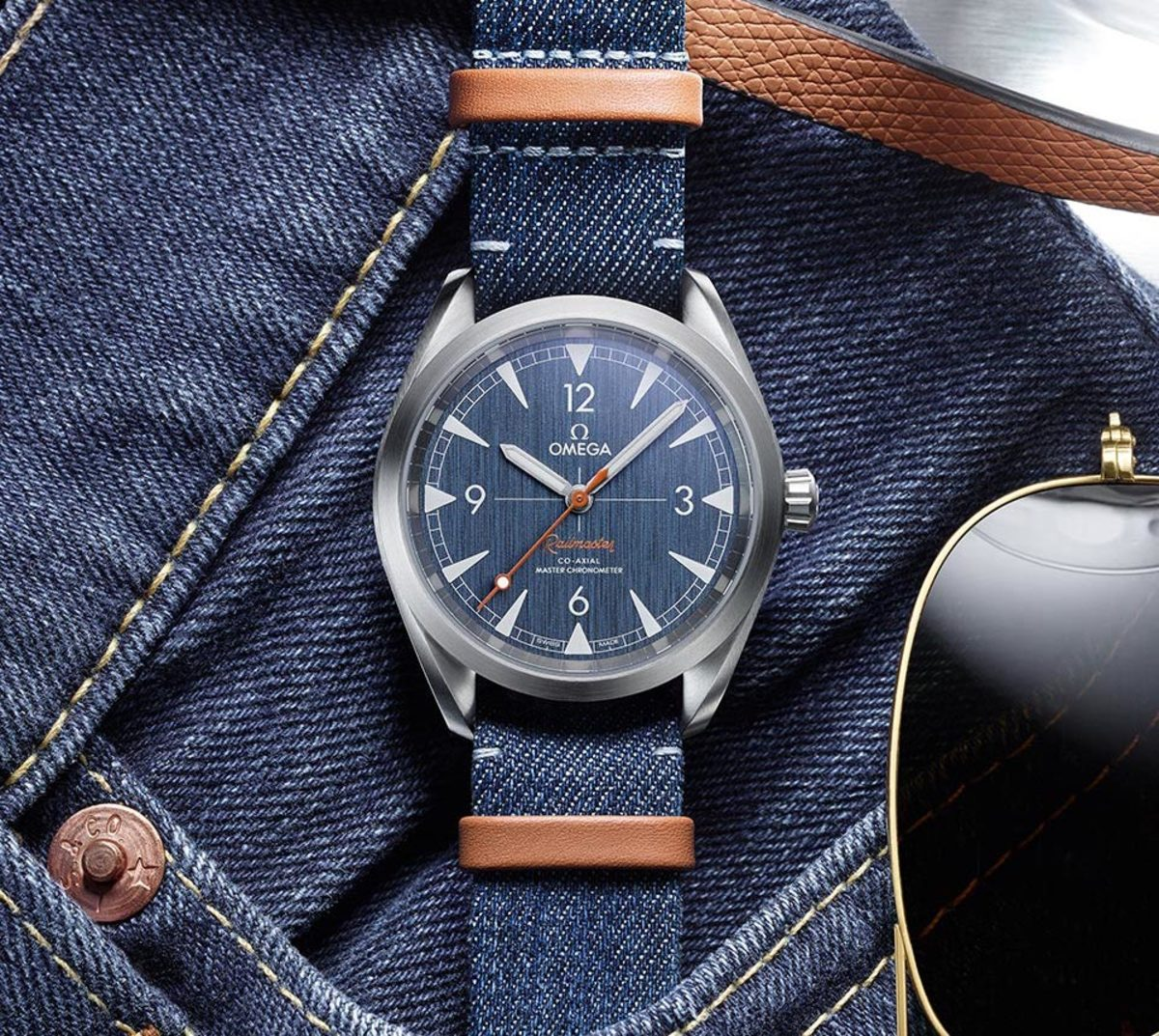 Omega Railmaster Denim