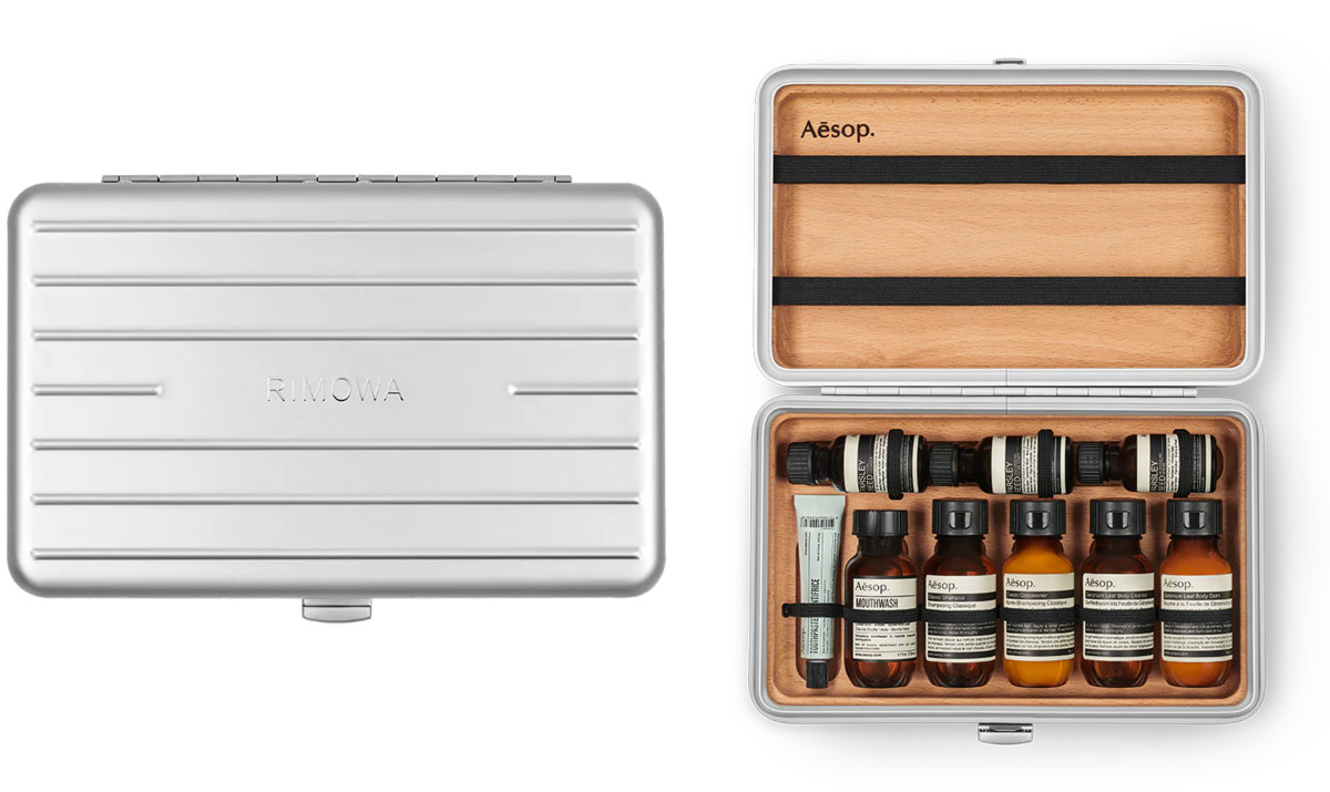 Rimowa releases a limited edition toiletry kit with Aesop