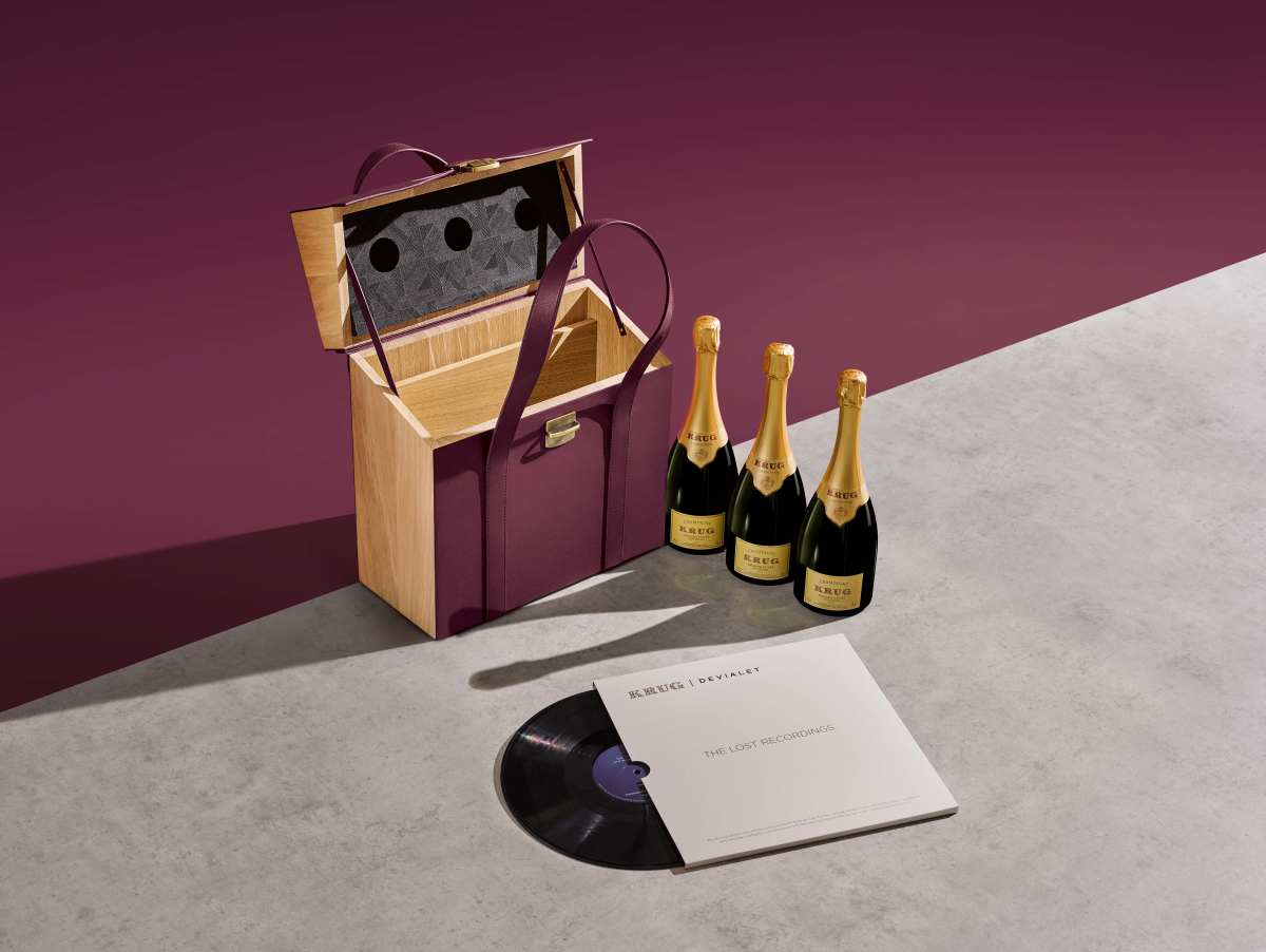 Krug and Devialet get together for a champagne trio inspired by music