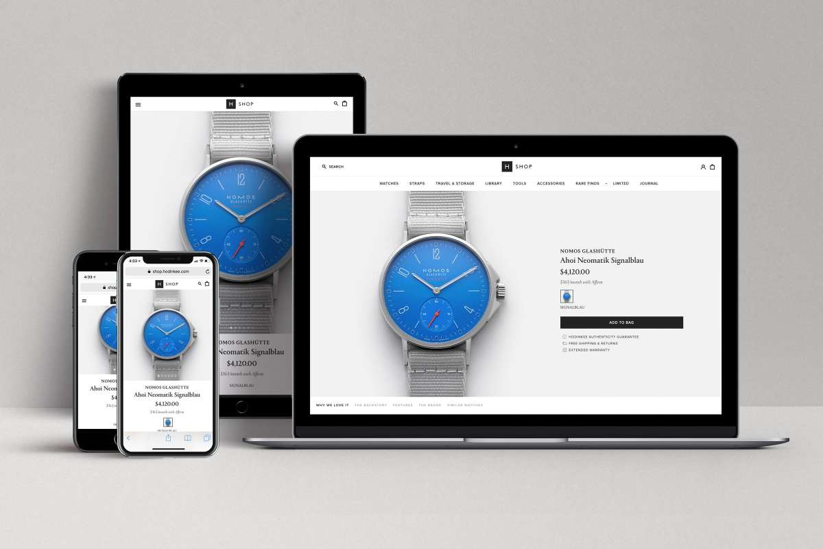 New Hodinkee Shop