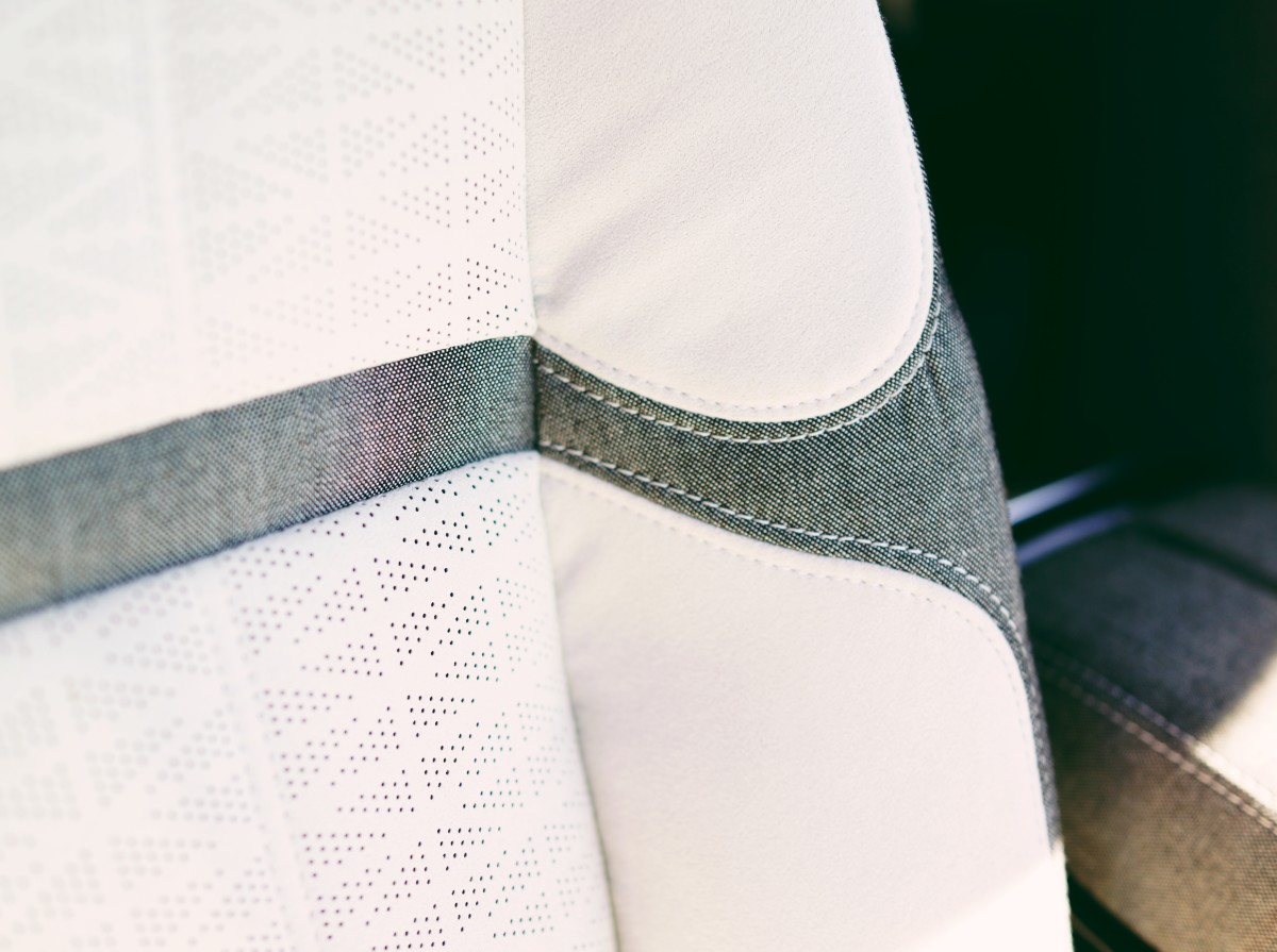 The Range Rover Velar will be one of the first cars to offer a Kvadrat interior, a sustainable textile that is a beautiful alternative to leather.